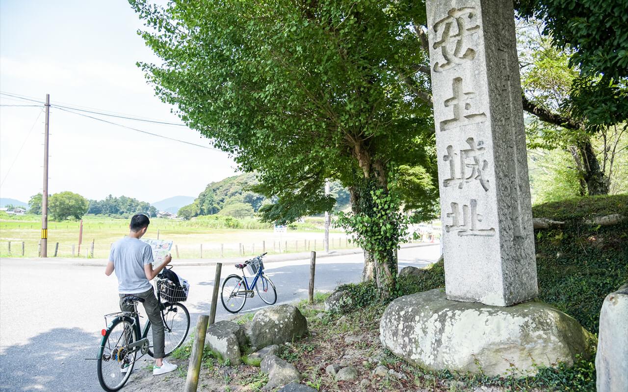 安土城跡前之紀念石碑